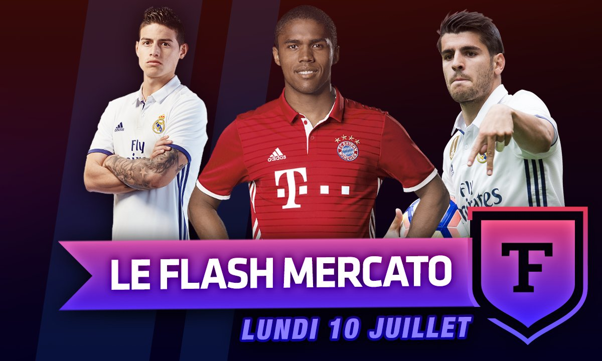 Le Flash Mercato du 10 juillet : Morata, Douglas Costa