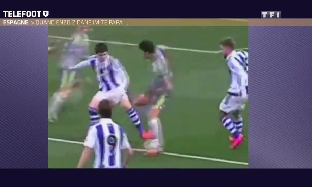 Insolite : Quand Enzo Zidane imite papa