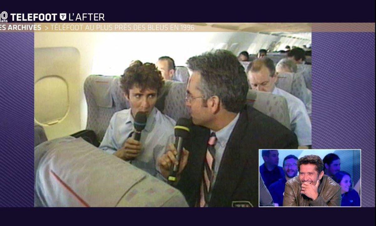 Téléfoot, l'After - Bixente Lizarazu interviewé par Pascal Praud dans un avion