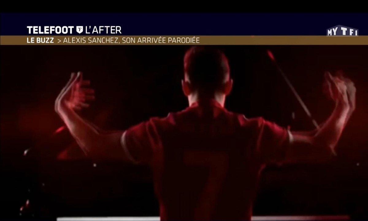 Téléfoot, l'After - Le Buzz : Alexis Sanchez, son arrivée parodiée