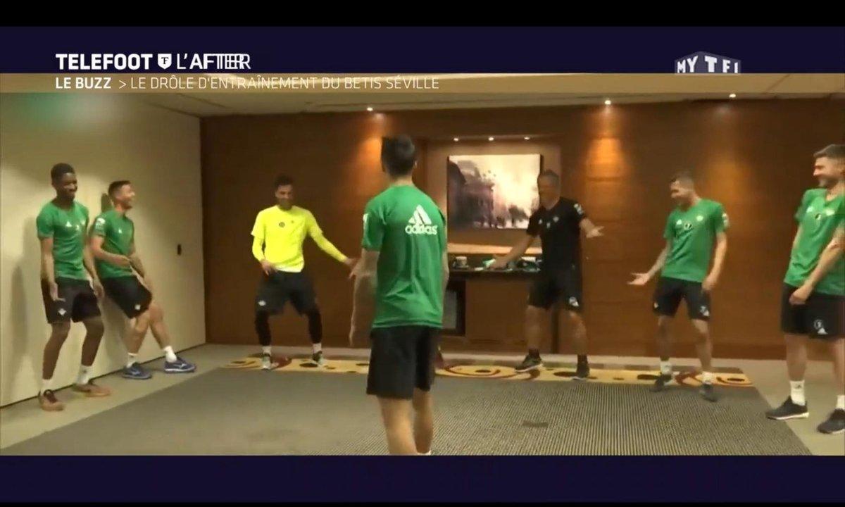 Téléfoot, l'After - Le Buzz : Le drôle d'entraînement du Betis Séville