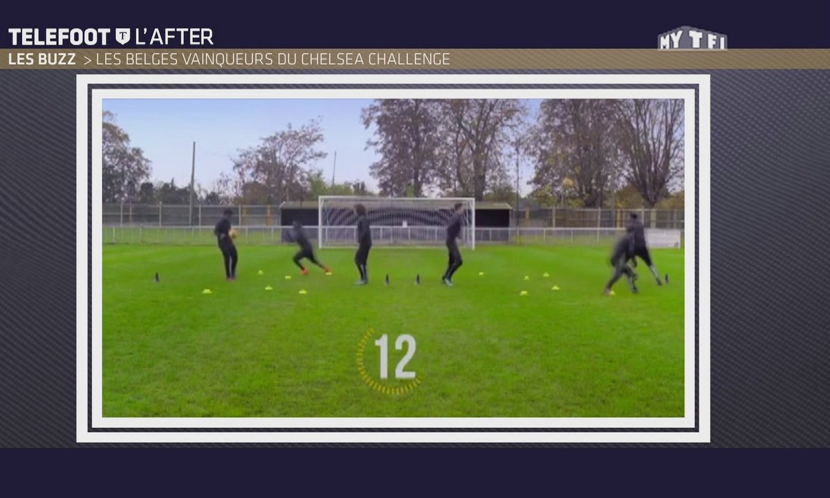 Téléfoot, l'After - Le Buzz : Les joueurs de Chelsea s'amusent à l'entraînement