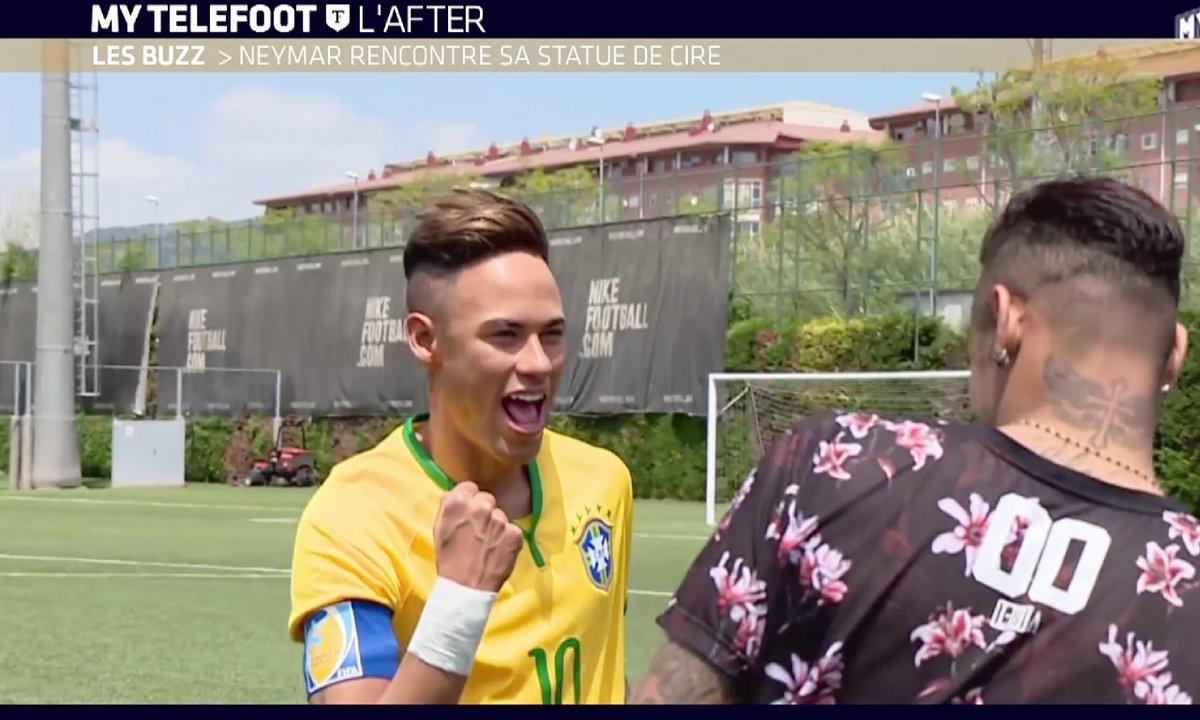 MyTELEFOOT L'After - Le Buzz : Neymar et sa statue de cire