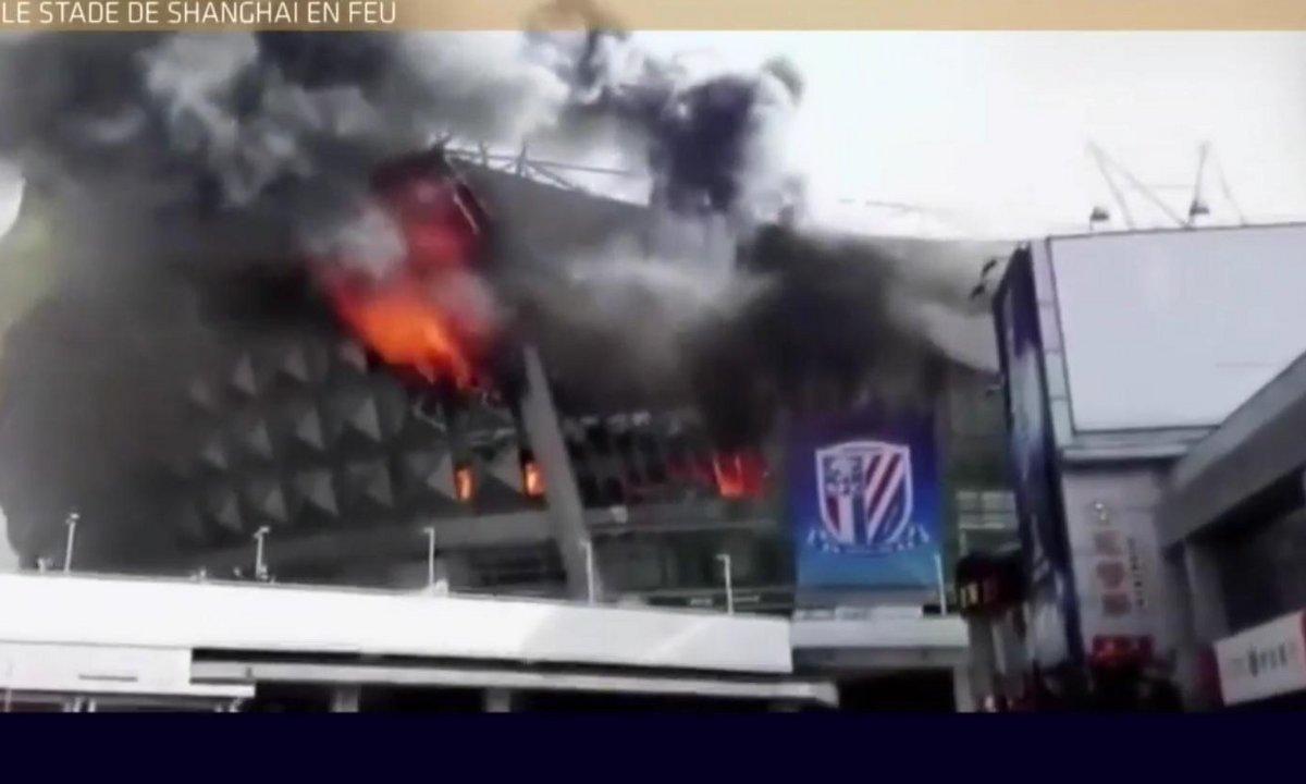 Téléfoot, l'After - Le Buzz : Le stade de Shanghai en feu !