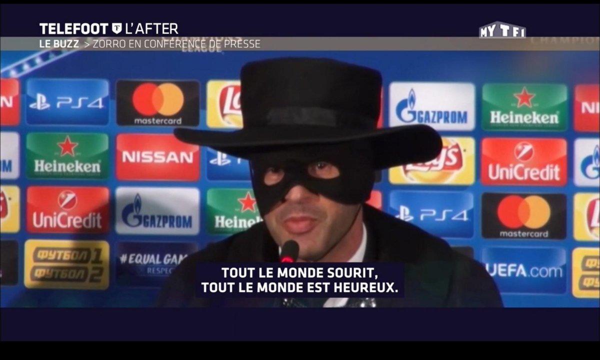 Téléfoot, l'After - Le Buzz : Zorro en conférence de presse