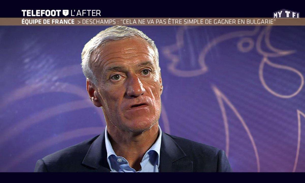 """Téléfoot, l'After - Deschamps : """"Cela ne va pas être simple de gagner en Bulgarie"""""""
