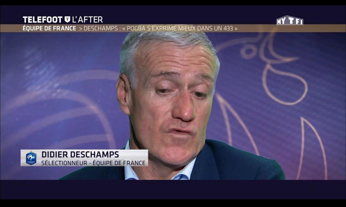 """Téléfoot, l'After - Equipe de France - Deschamps : """"Pogba s'exprime mieux dans un 4-3-3"""""""