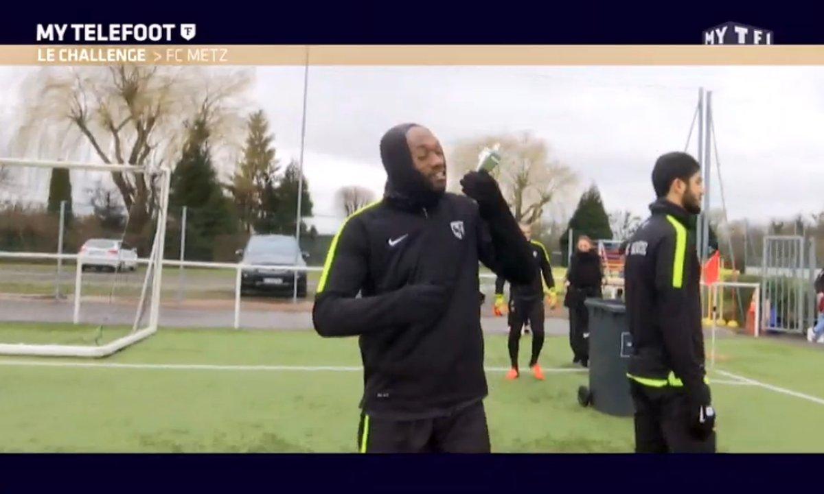 MyTELEFOOT - Les joueurs du FC Metz et le beat the bin challenge