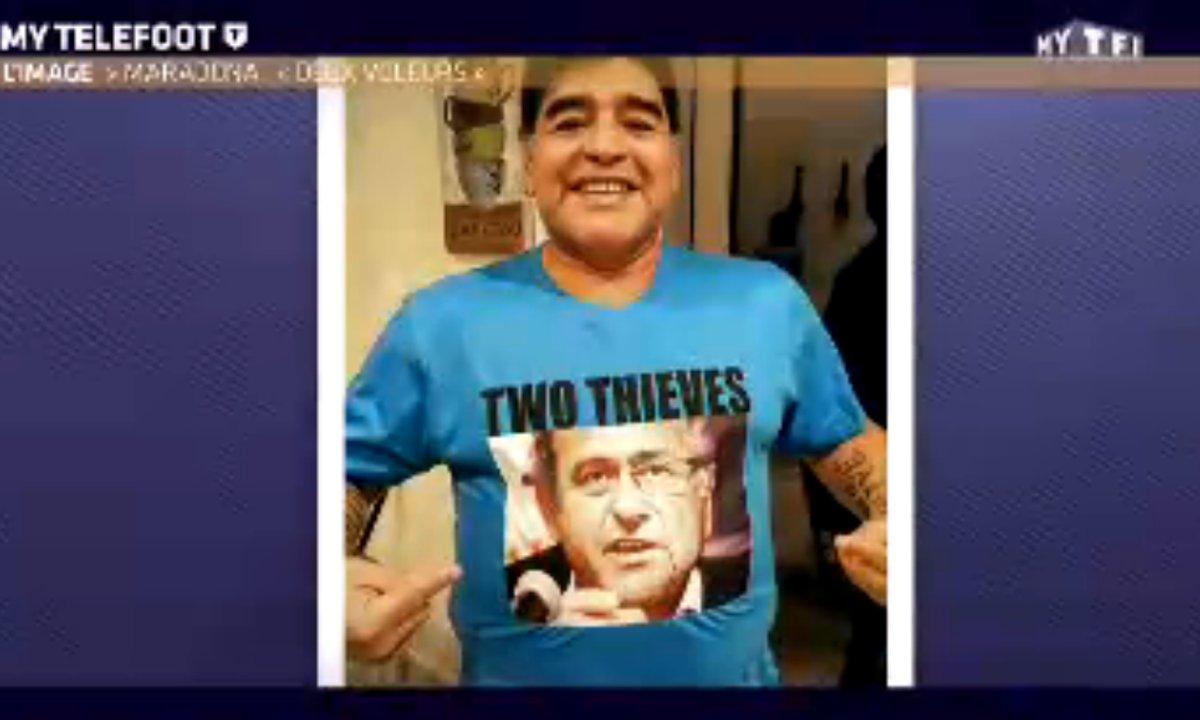 MyTELEFOOT - L'image de la semaine : Maradona se paie Blatter et Platini