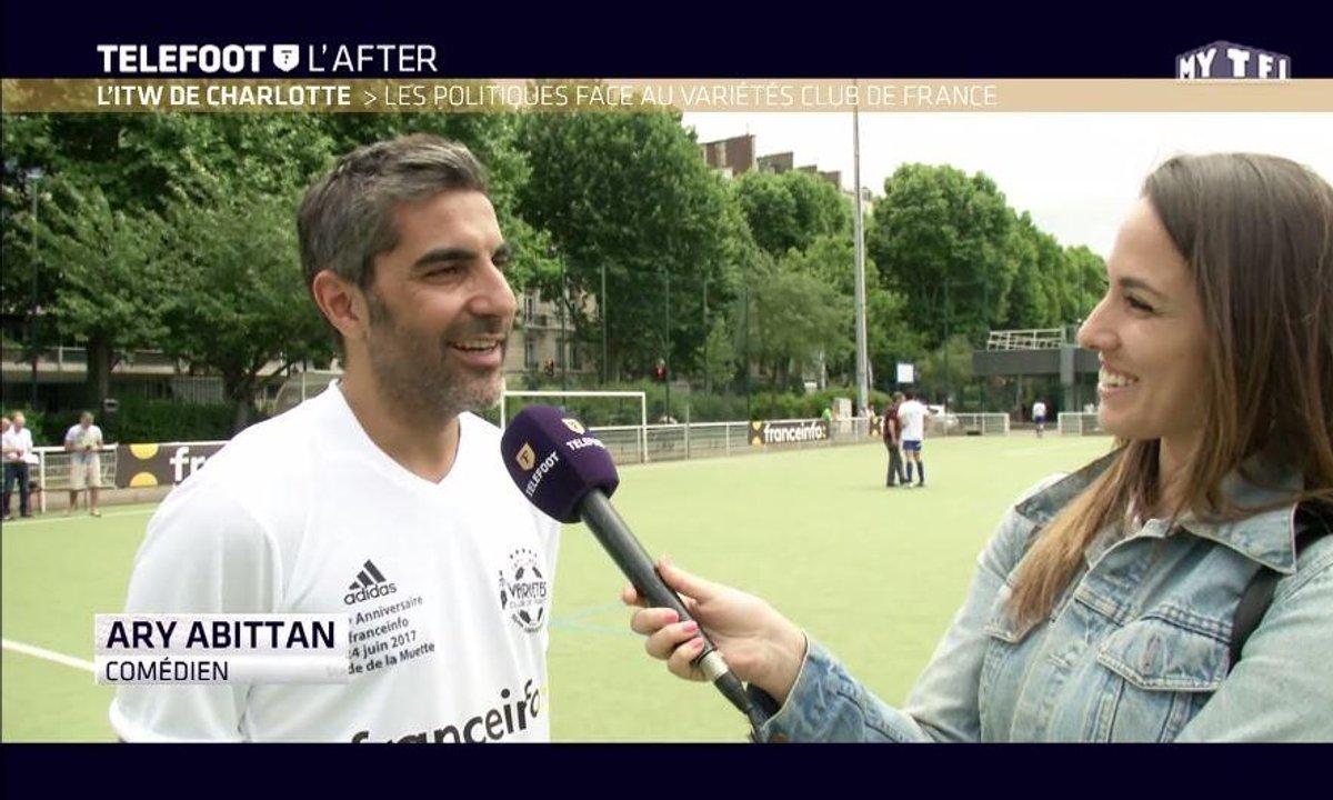 Téléfoot, l'After - L'interview de Charlotte : Les politiques face au variétés club de France
