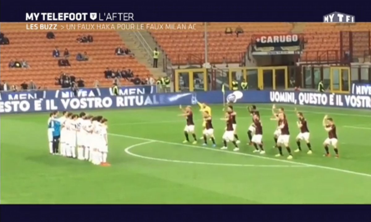 MyTELEFOOT L'After - Le Buzz : Le Haka ridicule de l'AC Milan