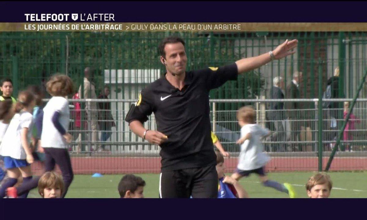 Téléfoot, l'After - Ludovic Giuly dans la peau d'un arbitre