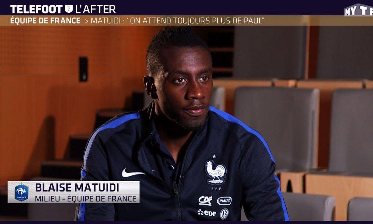 """Téléfoot, l'After - Matuidi : """"On attend toujours plus de Paul Pogba"""""""