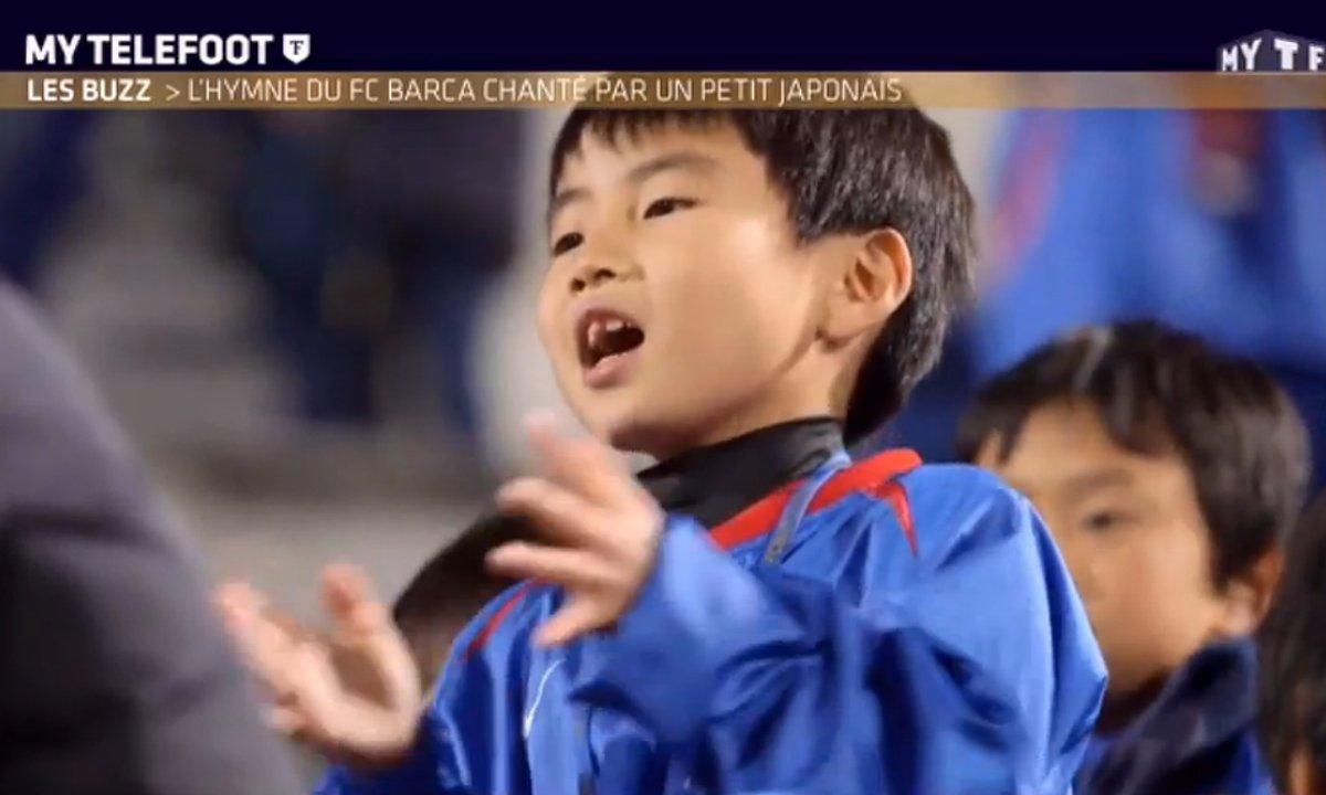 MyTELEFOOT - Le Buzz : Un enfant japonais reprend l'hymne du Barça !