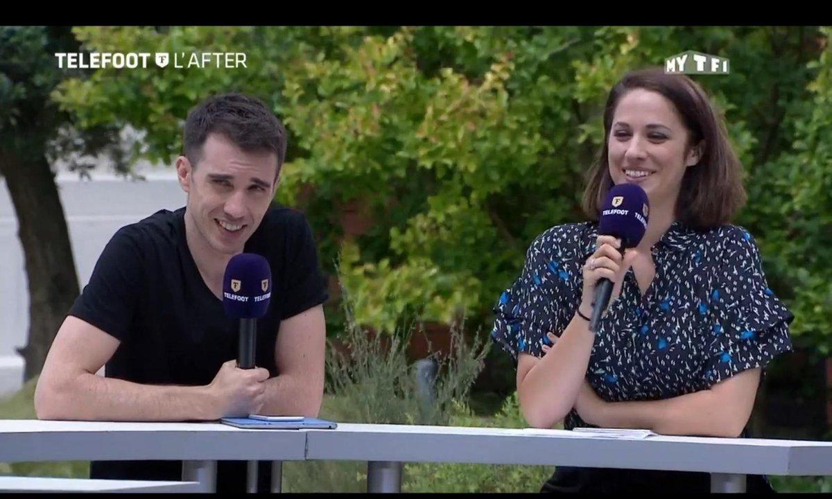Téléfoot, l'After - Souvenirs : le 1er plateau de Charlotte Namura et Thomas Mekhiche