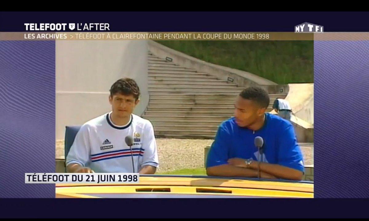 Téléfoot, l'After - Téléfoot à Clairefontaine pendant la Coupe du Monde 1998