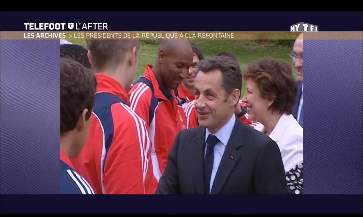 Téléfoot, l'After - Les Archives : Les présidents de la République à Clairefontaine