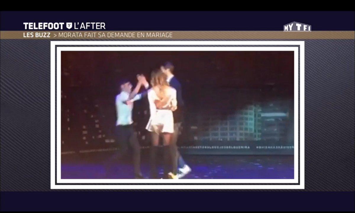 Téléfoot, l'After - Le Buzz : Morata fait sa demande en mariage