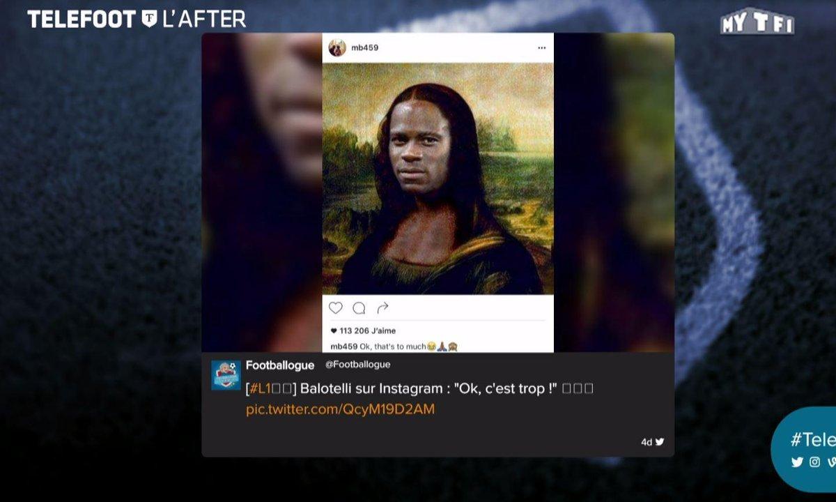 Téléfoot, l'After - Les tweets de la semaine avec Balotelli en Joconde et Ronaldo en slip