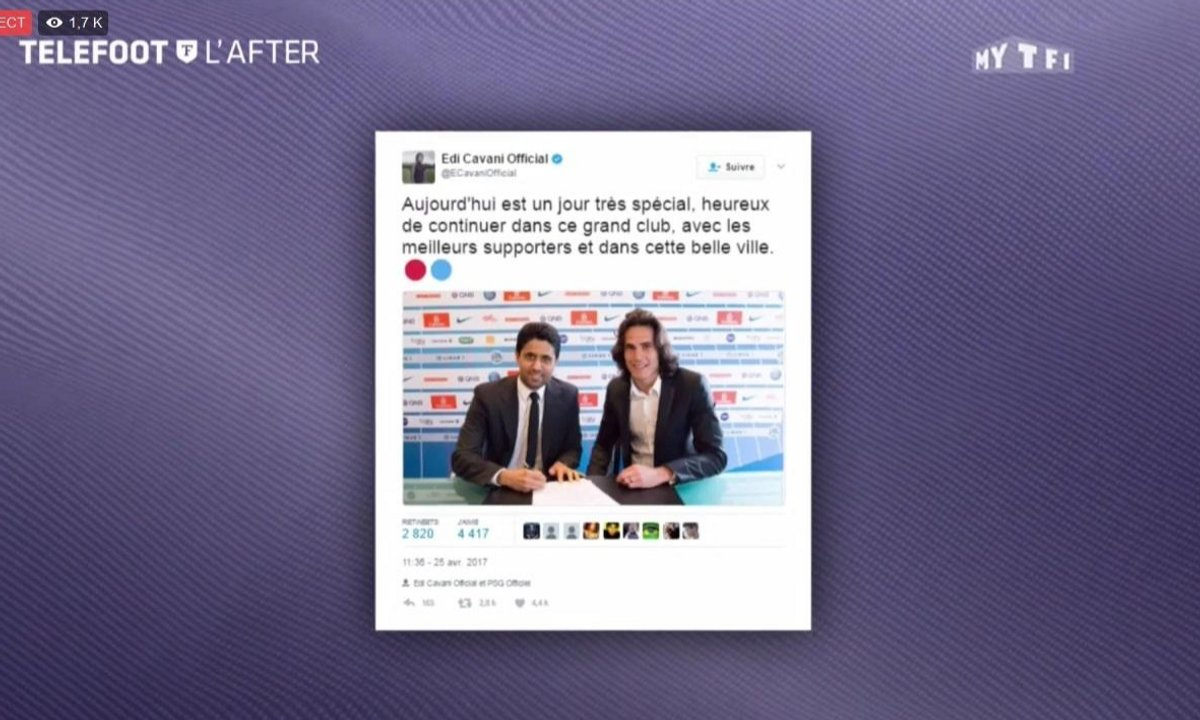 Téléfoot, l'After - Les tweets de la semaine : Marc Bartra, Edinson Cavani, Zlatan Ibrahimovic