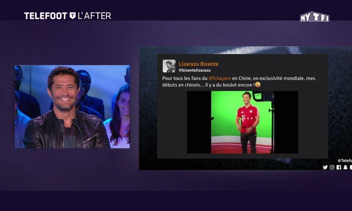 Téléfoot, l'After - Les Tweets : Lizarazu parle chinois !