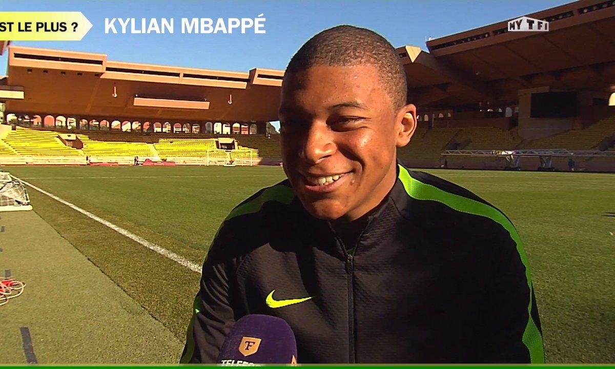 """L'interview """"Qui est le plus"""" de Kylian Mbappé"""