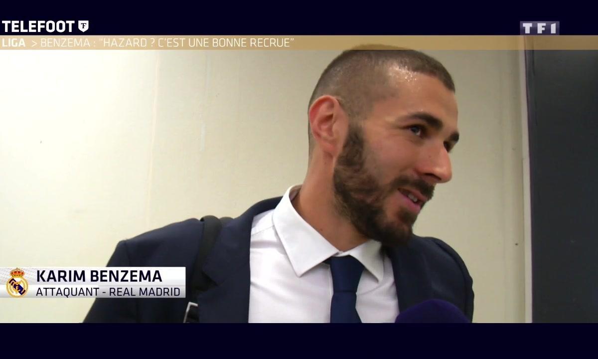 """Mercato - Benzema : """"Hazard ? Ce serait une bonne recrue"""""""