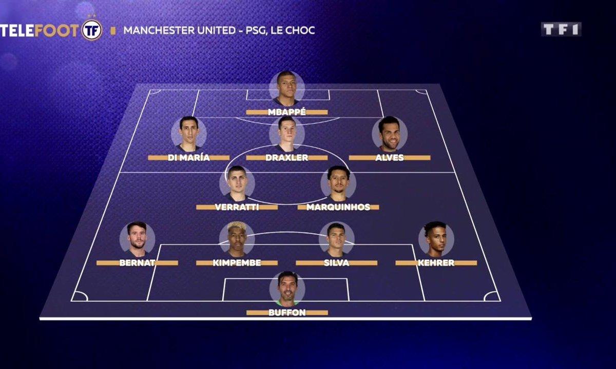 MU-PSG : L'équipe probable du PSG