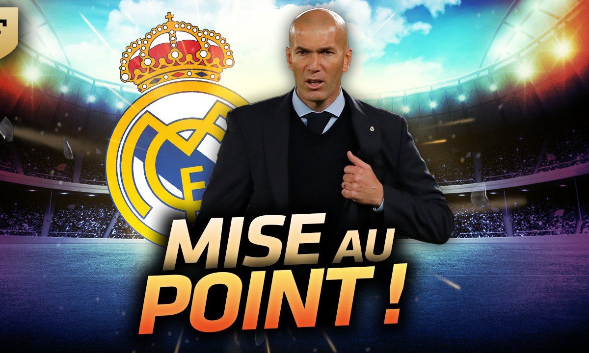 La Quotidienne du 10/01 : Real Madrid, la mise au point de Zidane