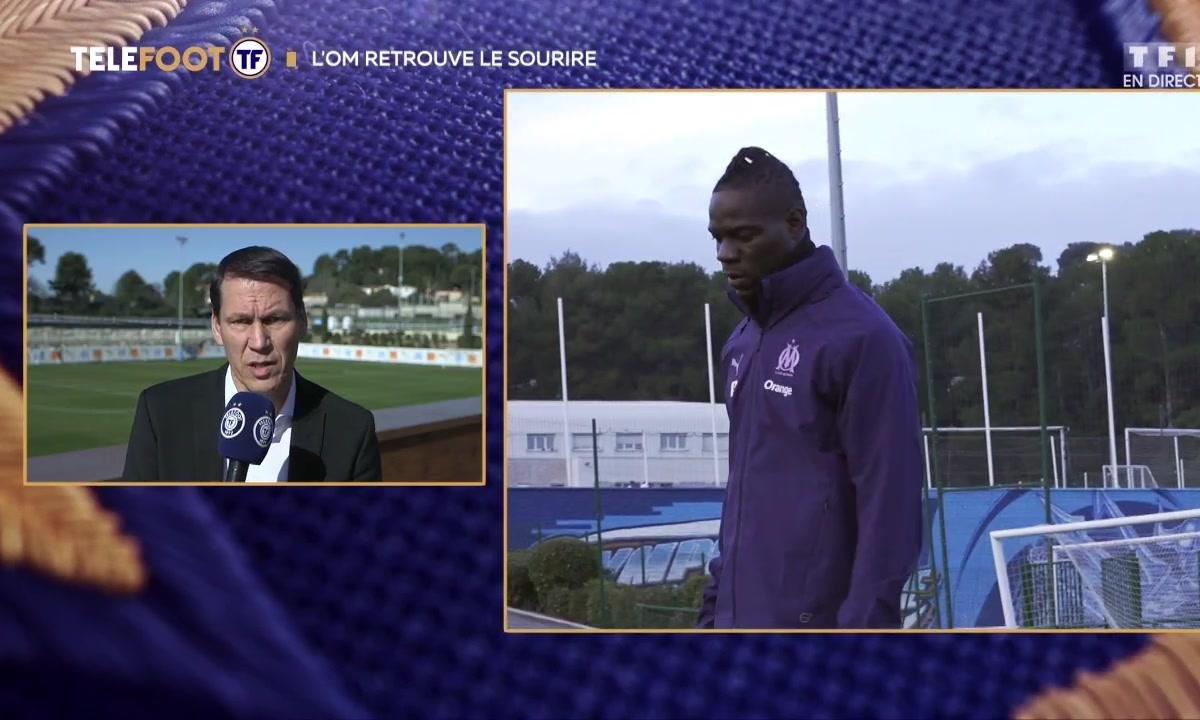 """OM - Rudi Garcia : """"Mario Balotelli s'épanouit chez nous"""""""