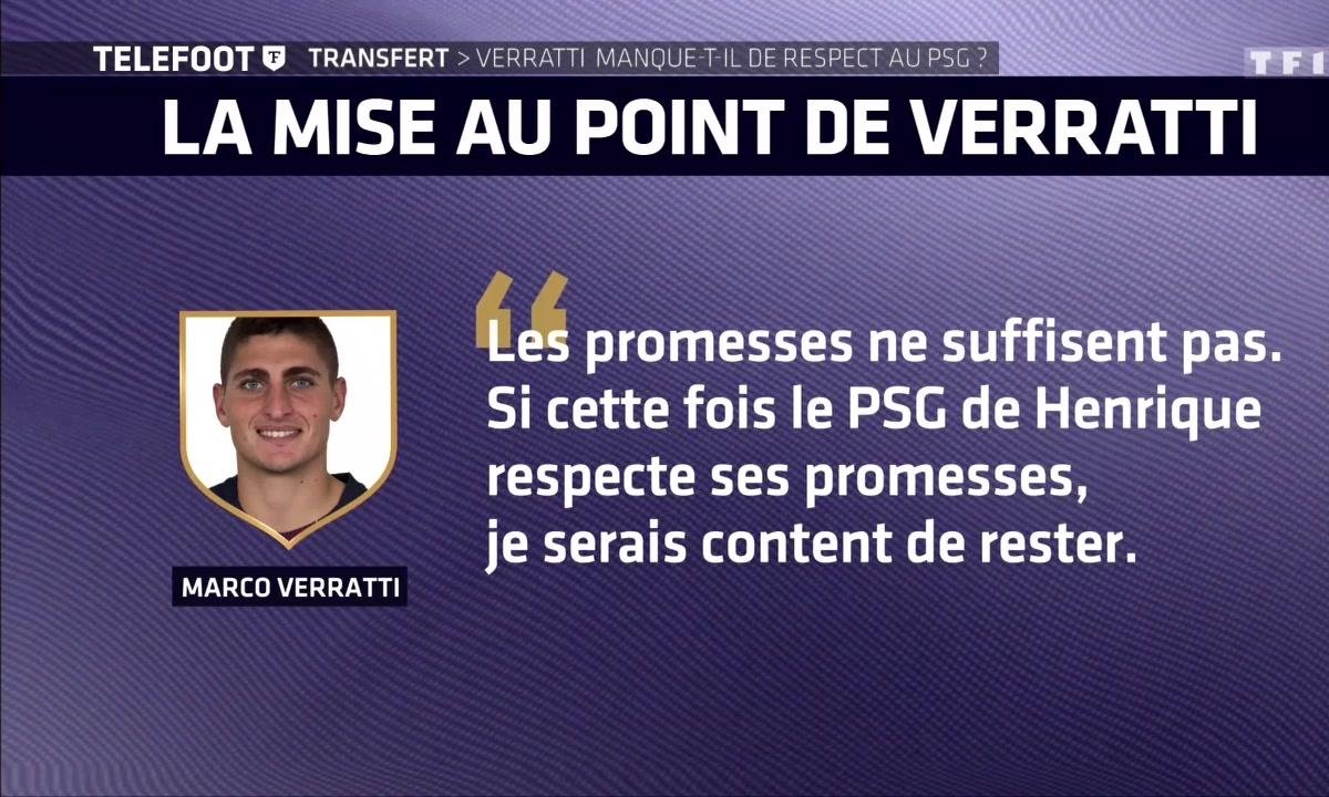 Transfert : Marco Verratti manque-t-il de respect au PSG ?