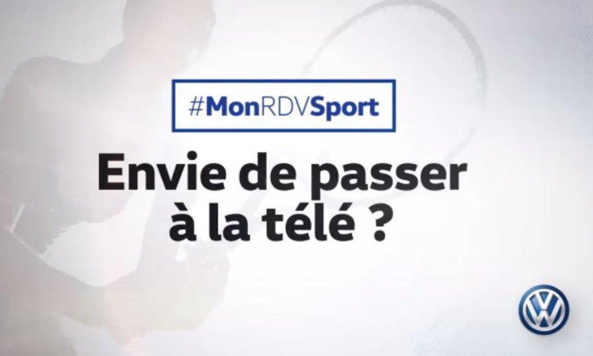 Passez à la télé avec #MonRDVSport