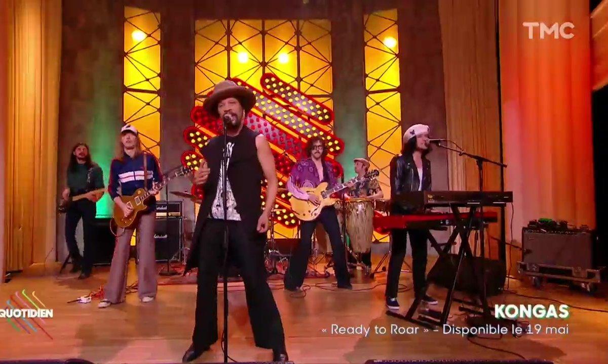 """The Kongas : """"Ready to Roar"""" en live pour Quotidien"""