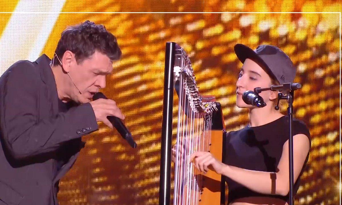 THE VOICE 2020 - En exclu, Marc Lavoine et Gustine reprennent « Les yeux revolver » à la harpe !