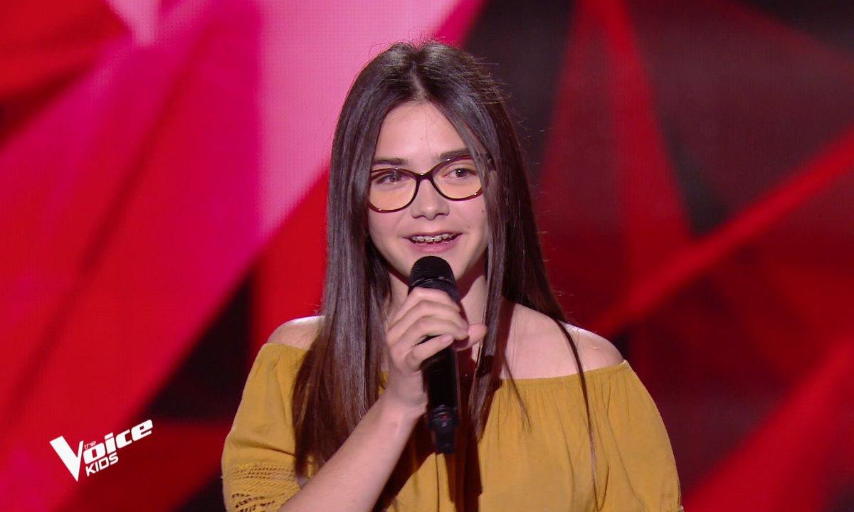 The Voice Kids - Marie chante « Si t'étais là » de Louane