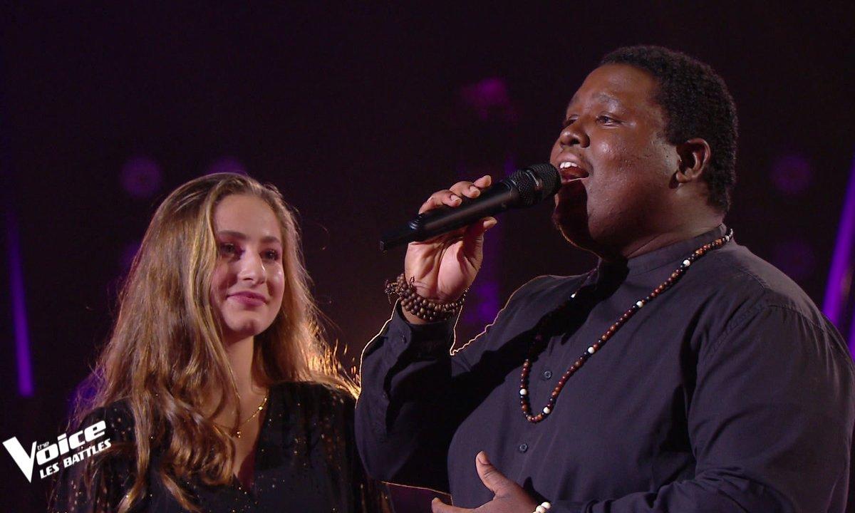 """The Voice 2021 – Cyprien VS Elise chantent """"Histoire éternelle""""  de la BO de la Belle et la Bête"""