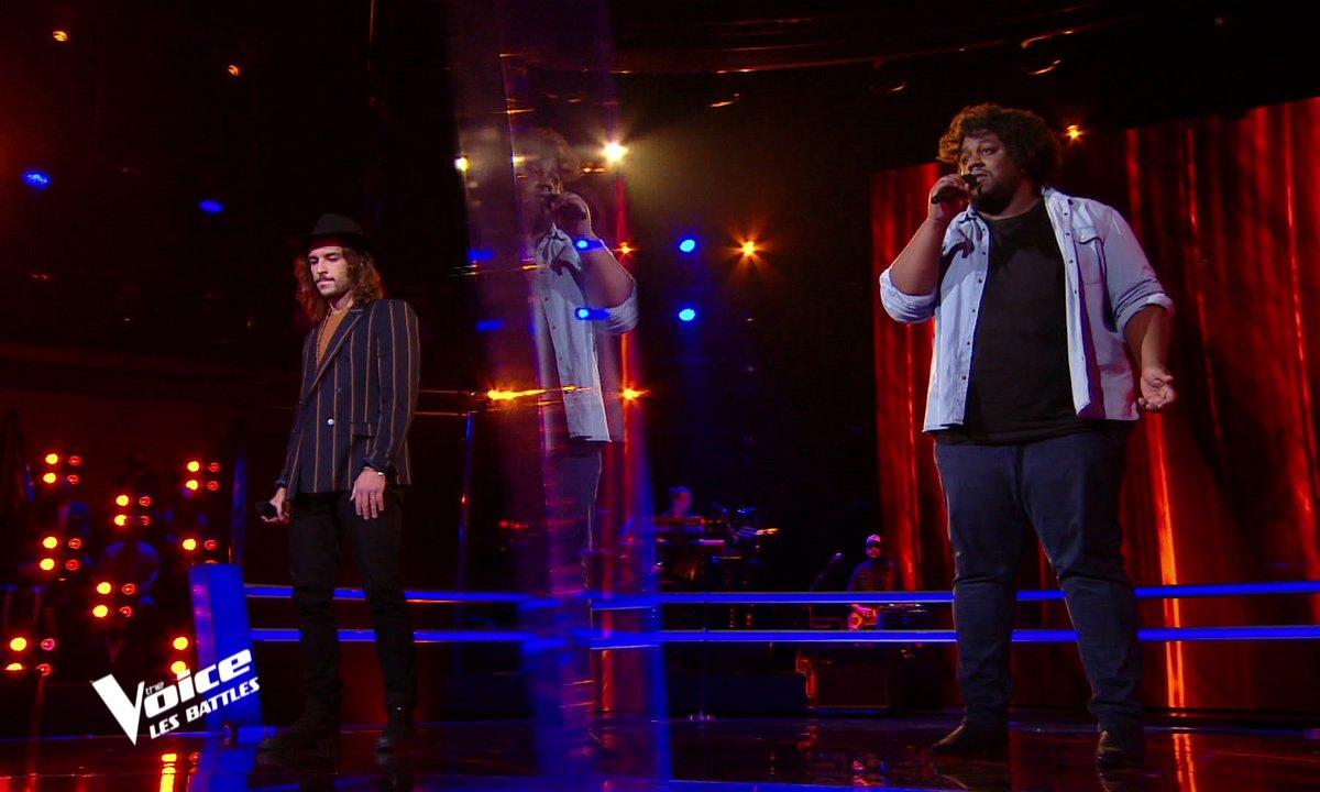"""The Voice 2021 – Quentin Malo VS Luc Laversanne chantent """"Né quelque part"""" de Maxime le Forestier"""