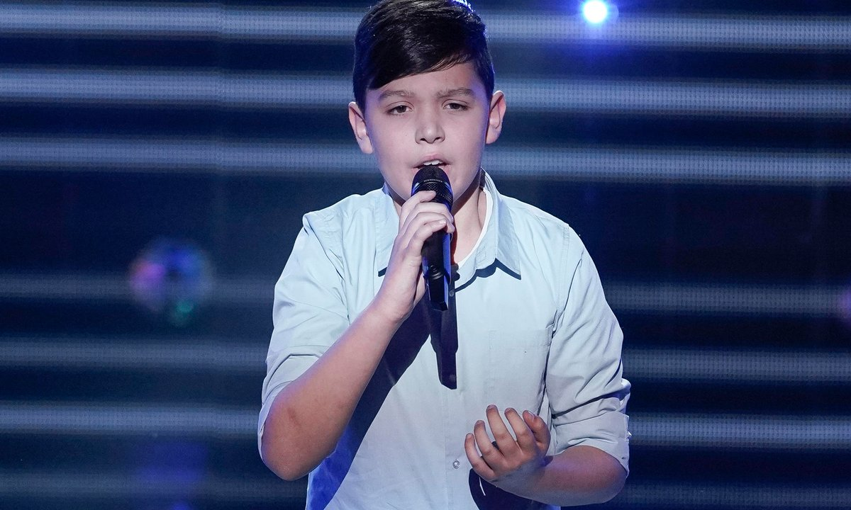 "The Voice Kids - Thomas chante ""Que tu reviennes"" de Patrick Fiori"
