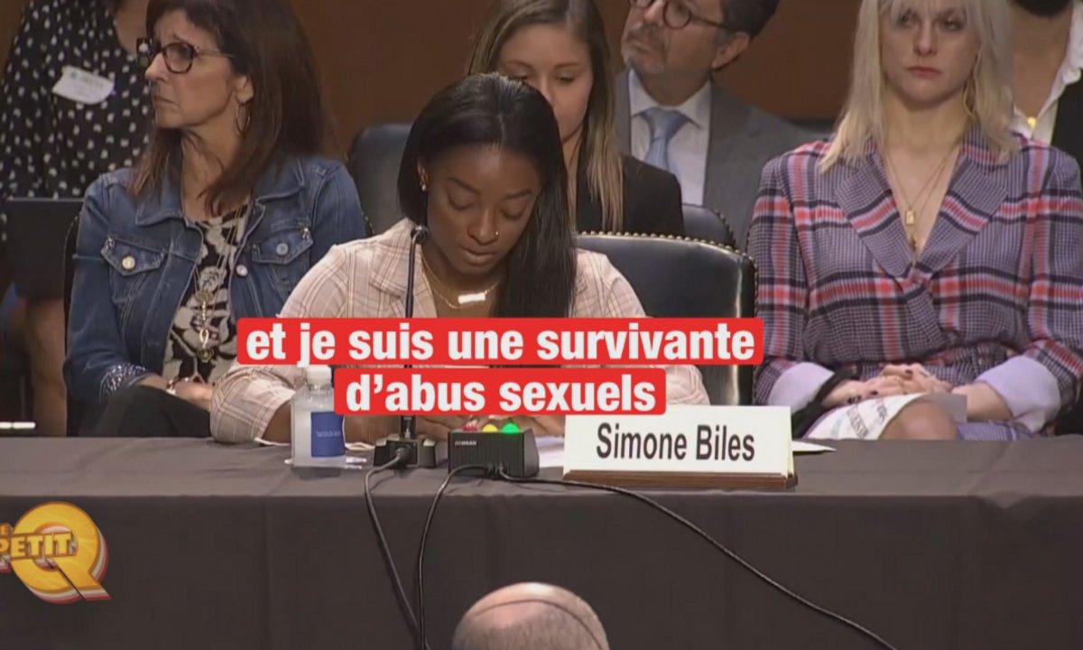 Le Petit Q : le témoignage coup de poing de Simone Biles au Congrès