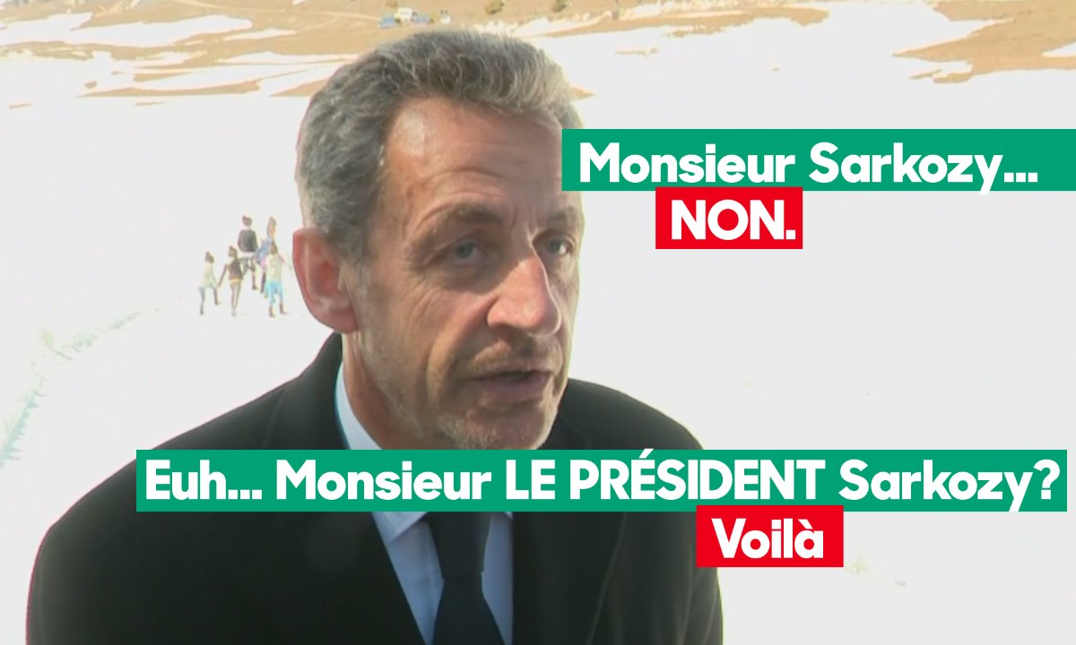 Nicolas Sarkozy est un BRIN pointilleux sur la façon dont on doit s'adresser à lui...