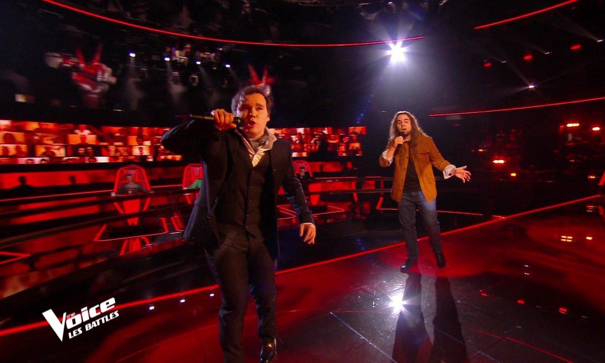 "The Voice 2021 – Jim Bauer VS Luciano Cadô chantent ""Angie"" des Rolling Stones"