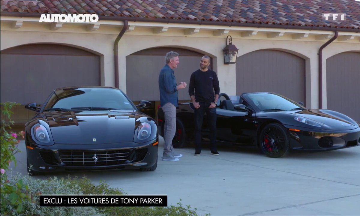 Tony Parker expose ses Ferrari 599 GTB et F430 Spider