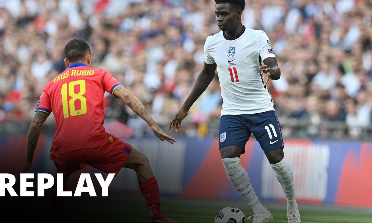 Angleterre - Andorre : revoir le match en intégralité