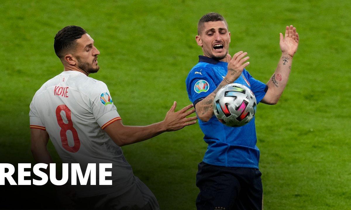 Italie - Espagne : Voir le résumé du match en vidéo