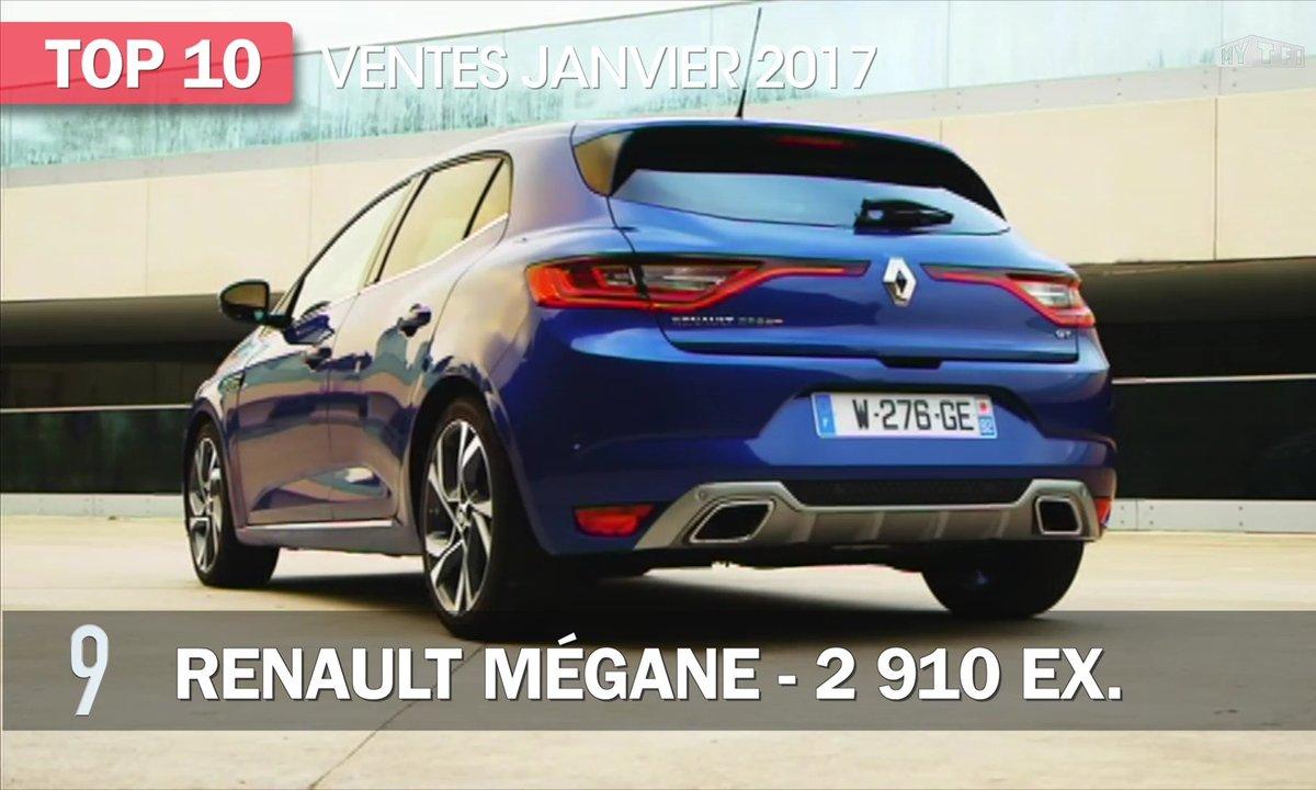 Le Top 10 des ventes de voitures en janvier 2017