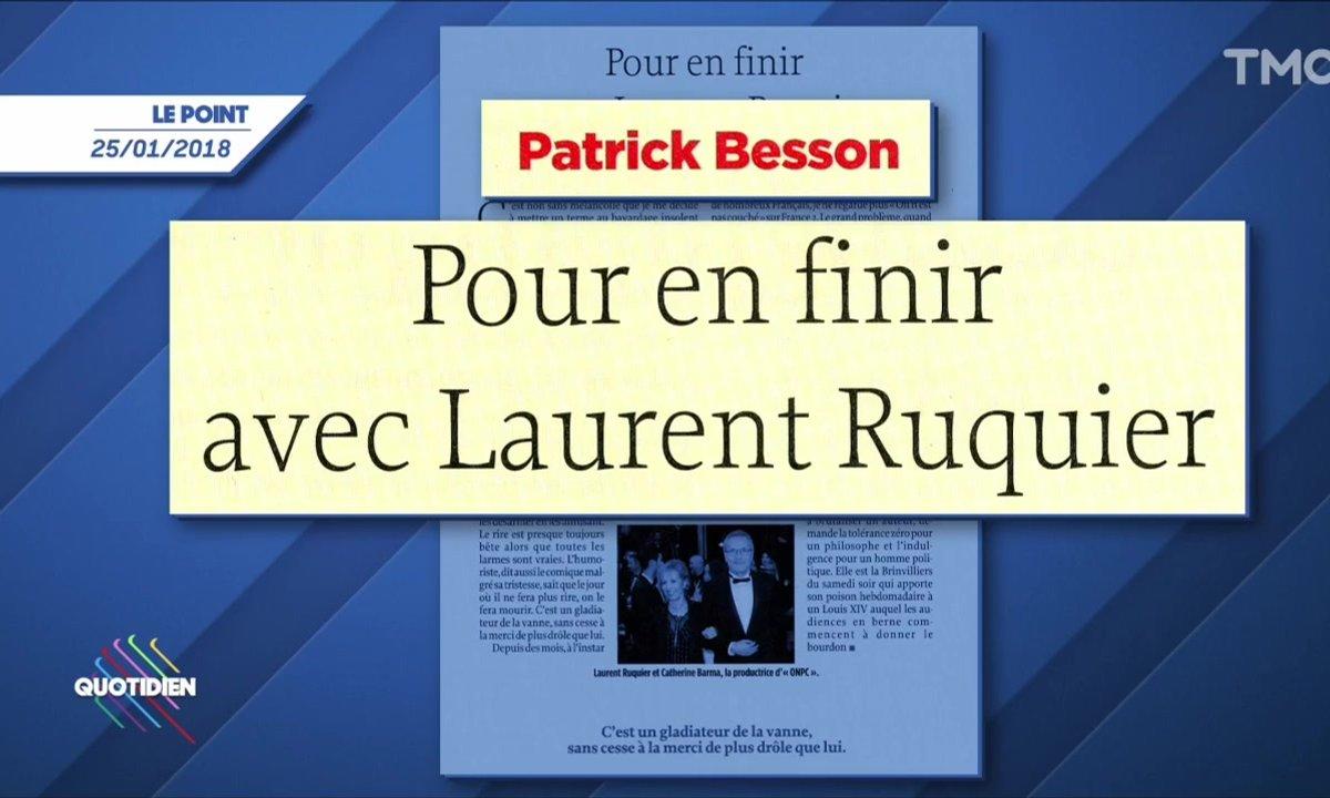 L'image du jour de Julien Bellver : Patrick Besson veut en finir avec Laurent Ruquier