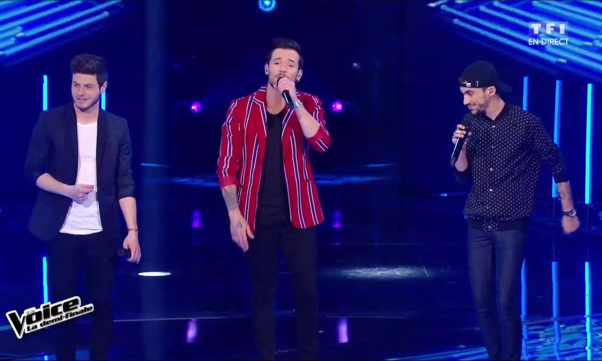 Le trio Arcadian interprète en direct « Love Yourself » (Justin Bieber) pour la demi-finale (Saison 05)