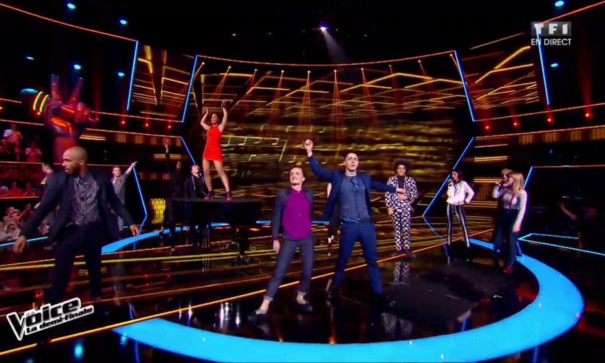 La troupe de Résiste  interprète « La groupie du pianiste » en direct de la demi-finale (Saison 05)