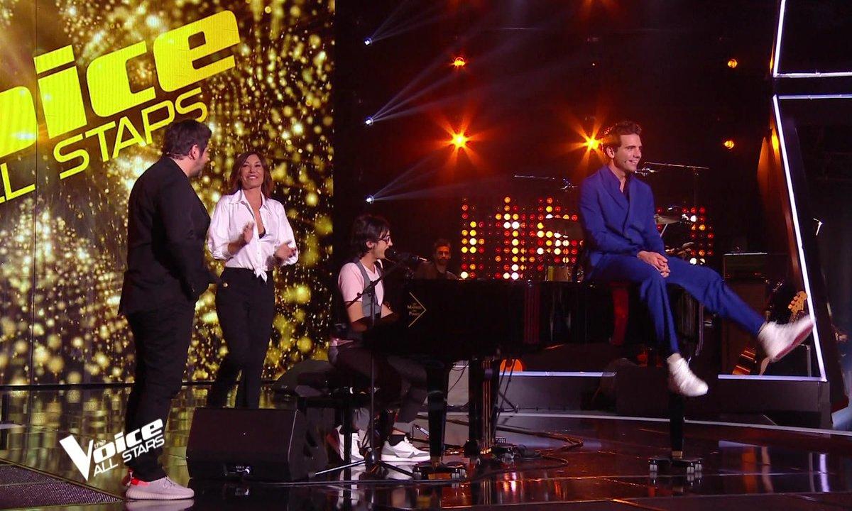 """The Voice All Stars – Vincent Vinel et les coachs chantent """"Happy Birthday"""" The Voice"""