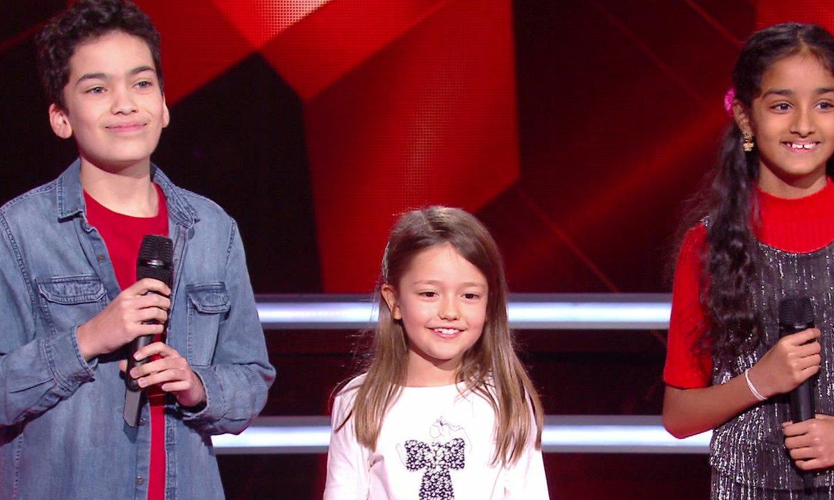 The Voice Kids 2020 – Battle - Nathan vs Kanesha vs Lena chantent « Tombe » de Matt Pokora (Team Jenifer)